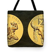 Yankton Sioux Tribe Code Talkers Bronze Medal Art Tote Bag