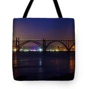 Yaquina Bay Bridge At Night Tote Bag