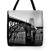 Yaquina Bay Bridge Tote Bag by Benjamin Yeager