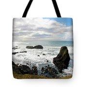 Yaquina Bay Coastline Tote Bag