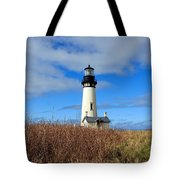 Yaquina Bay Lighthouse In Oregon Tote Bag