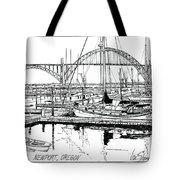 Yaquina Bay Newport Oregon Tote Bag