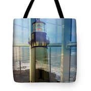 Yaquina Head Lighthouse Mirage  Tote Bag