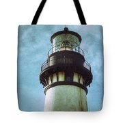 Yaquina Head Lighthouse Texture Tote Bag