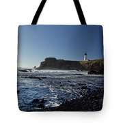 Yaquina Lighthouse And Beach No 1 Tote Bag