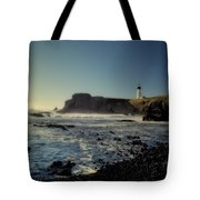 Yaquina Lighthouse And Beach No 2 Tote Bag