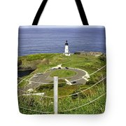Yaquina Lighthouse From Salal Hill Trail  Tote Bag