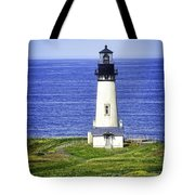 Yaquina Lighthouse From The Big Hill Tote Bag