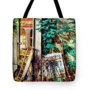 Yard Sale Antiques - Horizontal Tote Bag