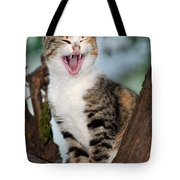 Yawning Cat Tote Bag