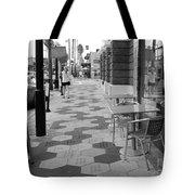 Ybor City Sidewalk - Black And White Tote Bag