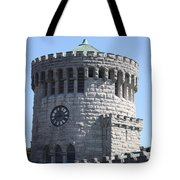 Ye Old Castle Clock Tower Tote Bag