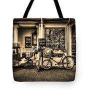 Ye Olde Sweet Shoppe Sepia Tote Bag