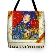 Year 1928 Vintage Greeting Card Tote Bag
