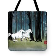 Year Of The Wood Horse Tote Bag