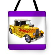 Yellow 1928 Hotrod Pickup Truck  Tote Bag