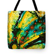 Yellow Abstract Tote Bag by Sharon Cummings