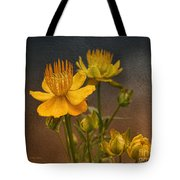 Yellow Aged Floral Tote Bag