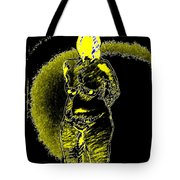 Yellow And Black Woman Tote Bag