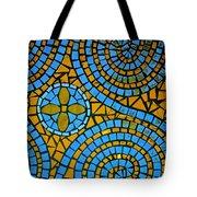 Yellow And Blue Mosaic Tote Bag