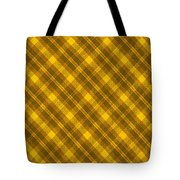 Yellow And Brown Diagonal Plaid Pattern Cloth Background Tote Bag