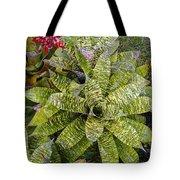 Yellow And Green Bromeliad Tote Bag
