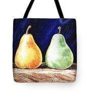 Yellow And Green Pear Tote Bag