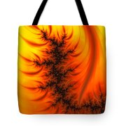 Yellow And Orange Fractal Fire Tote Bag