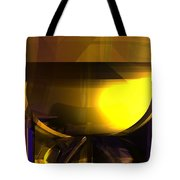 Yellow And Purple Contrast Tote Bag