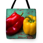 Yellow And Red Bell Pepper Tote Bag