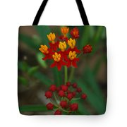 Yellow And Red Flowers Tote Bag