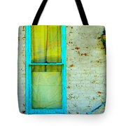 Art Deco Lamp And Yellow And Turquoise Window Tote Bag