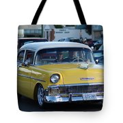 Yellow And White Classic Chevy Tote Bag
