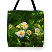 Yellow And White Dasies Tote Bag
