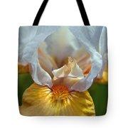 Yellow And White Iris Tote Bag