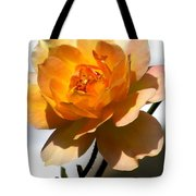Yellow And White Rose Tote Bag