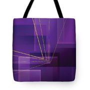 Yellow Angles Through Purple Landscape Tote Bag