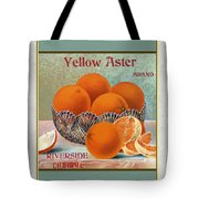 Yellow Aster Brand Oranges Vertical Tote Bag