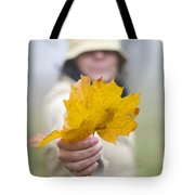 Yellow Autumn Leaf Tote Bag