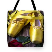 Yellow Ballet Shoes Tote Bag