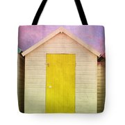 Yellow Beach Hut Tote Bag