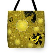 Yellow Bird Sings In The Sunflowers Tote Bag