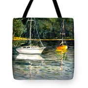 Yellow Boat Sister Bay Tote Bag