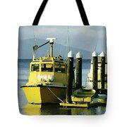 Yellow Boats Tote Bag by Ellen Henneke