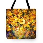 Yellow Bouquet - Palette Knife Oil Painting On Canvas By Leonid Afremov Tote Bag