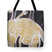 Yellow Brown Elephant In The Bush. Tote Bag