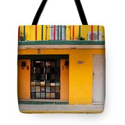Yellow Buidling Mexico Tote Bag
