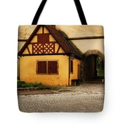 Yellow Building And Wall In Rothenburg Germany Tote Bag