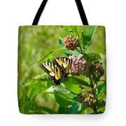 Yellow Butterflies Tote Bag
