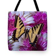 Yellow Butterfly Resting Tote Bag